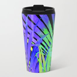 Pop Art Neon Leaf Pattern No. 2 Travel Mug