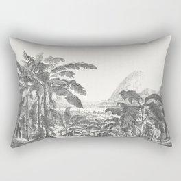 Palms and Mountain Rectangular Pillow