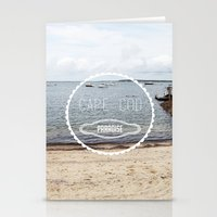 cape cod Stationery Cards featuring Cape Cod Paradise  by Caroline Fahey