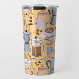 Coffee Love on Yellow Travel Mug