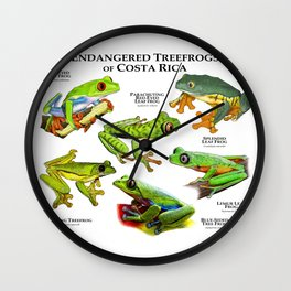 Endangered Treefrogs of Costa Rica Wall Clock