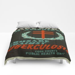 Vintage poster - Crusade Against Tuberculosis Comforters