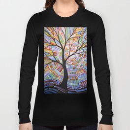 Abstract Art Landscape Original Painting ... Here Comes the Sun Long Sleeve T-shirt