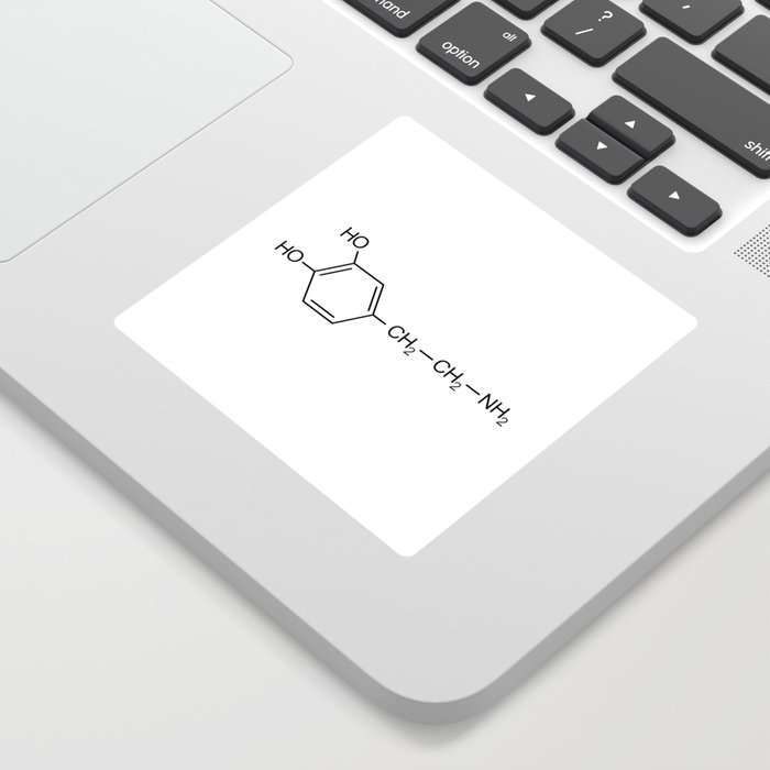 dopamine chemical formula Sticker