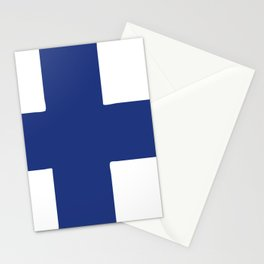 Finland flag emblem Stationery Cards