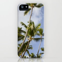 Palmy Blue. iPhone Case
