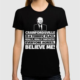 Crawfordsville Funny Gifts - City Humor T-shirt