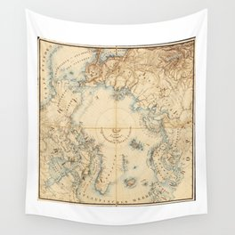Map of the Arctic and Adjacent Regions (1855) Wall Tapestry