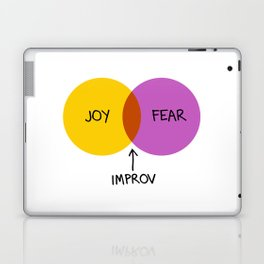 The Venn of Improv (Yellow/Violet) Laptop & iPad Skin