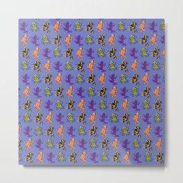 Poison Dart Frog Pattern  Metal Print