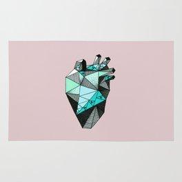 Single Minty Heart Rug