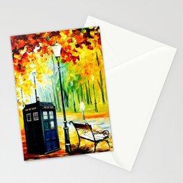 Tardis Art Waiting Somebody Stationery Cards