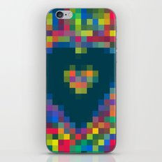 pixel heart iPhone & iPod Skin