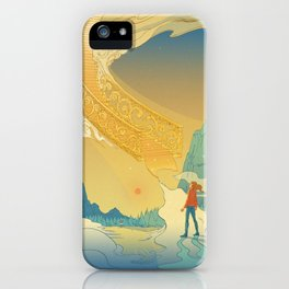 Golden Staircase iPhone Case
