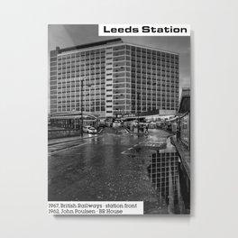 Concrete Leeds - British Rail House Metal Print