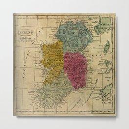 Vintage Map of Ireland (1808) Metal Print