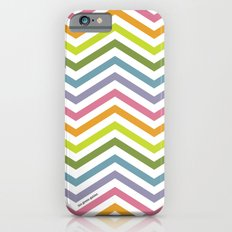 Rainbow chevrons iPhone 6 Slim Case
