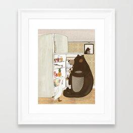 snack time Framed Art Print