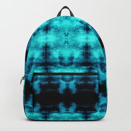 Turquoise Blue Black Diamond Gothic Pattern Backpack