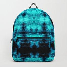 Turquoise Blue Black Diamond Gothic Pattern Backpack