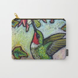 Rubythroat and Red Columbine Carry-All Pouch