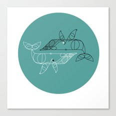 whale two Canvas Print