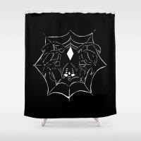 spider Shower Curtains featuring ▴ spider ▴ by PIXIE ❤︎ PUNK