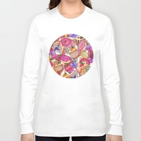 macaroon Long Sleeve T-shirts featuring Sugar, Spice & All Things Nice by Perrin Le Feuvre