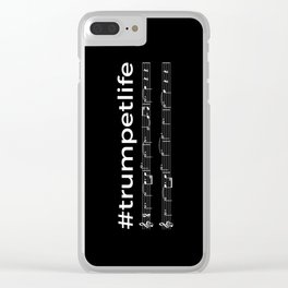 #trumpetlife (dark colors) Clear iPhone Case