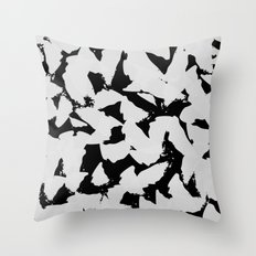 Black Bird Wings on Grey Throw Pillow