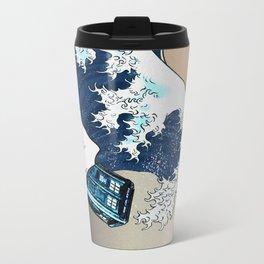 Blue phone Box Vs The great Big Wave iPhone 4 4s 5 5c 6, pillow case, mugs and tshirt Travel Mug