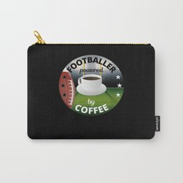 Footballer Powered By Coffee - Football Carry-All Pouch