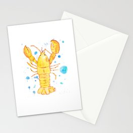 in a sea of lobsters, be a banana lobster Stationery Cards