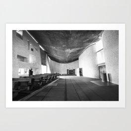 La Chapelle Notre-Dame-du-Haut de Ronchamp - Le Corbusier Art Print