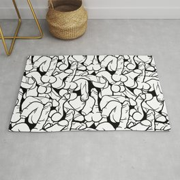 Schlong Song, Black and White Rug