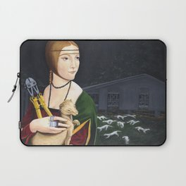 Lady with Liberated Ermine Laptop Sleeve