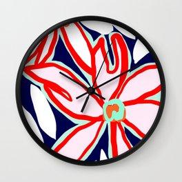 Flowers in July i Wall Clock