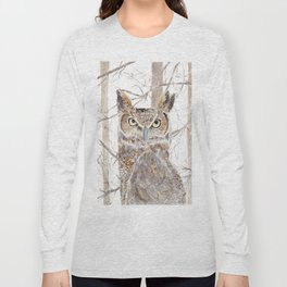 Owl in the Forest Long Sleeve T-shirt