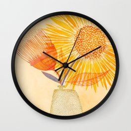 Tuesday Afternoon Sunflowers Wall Clock