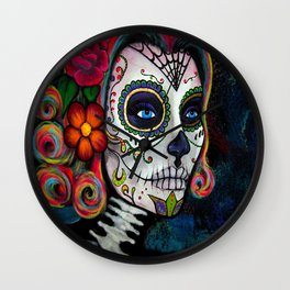 Sugar Skull Candy Wall Clock