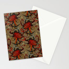 octopus ink umber Stationery Cards