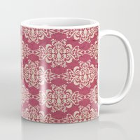 damask Mugs featuring Damask by Arcturus