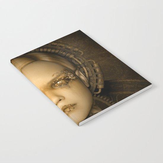 Steampunk female machine Notebook