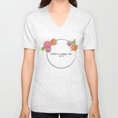 Floral - Ladies Unisex V-Neck