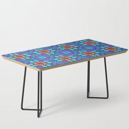 Southwestern Glass Tile Digital Art Coffee Table
