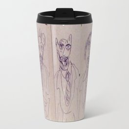 Dreadful Werecreatures on Cardboard Metal Travel Mug