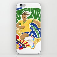 neymar iPhone & iPod Skins featuring Neymar by Simon Estrada