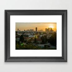Tel Aviv skyline from Ramatgan 3 Framed Art Print