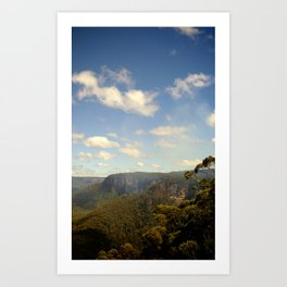The Blue Mountains Art Print