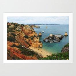 Beach for all Art Print